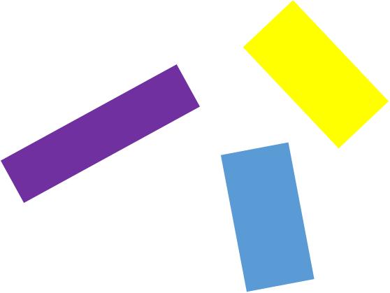 一貫性や整合性がない中の複数部分だけを見ている状態のイメージ(ケース3)