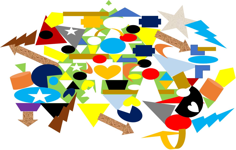 一貫性や整合性が全くない超バラバラ状態の全体像のイメージ(ケース4)