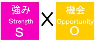 クロスSWOT分析:「強み」と「機会」をセットで考えてみる